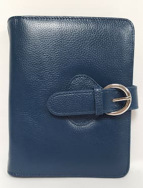 """Leather """"Ava"""" Binder Compact - Teal"""