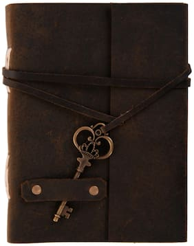 Leather With Key Notebook