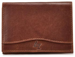 LEATHER ZENTRUM BROWN LEATHER CARD-HOLDER
