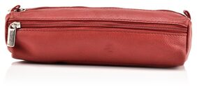 LEATHER ZENTRUM RED LEATHER PENCIL POUCH