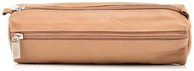LEATHER ZENTRUM TAN LEATHER PENCIL POUCH