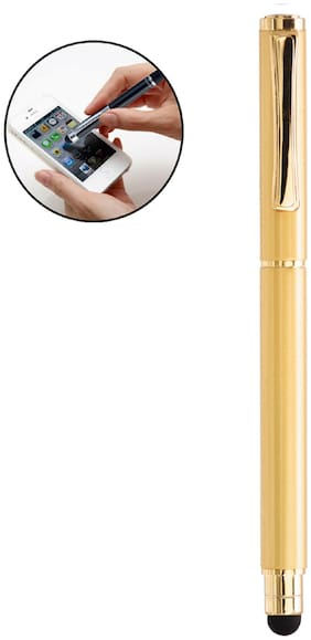 Legend Divine Ball Pen 2 In 1 Capacitive Stylus Pen With Luxury Look (Golden) For Android Touch Sceen Mobile Phones And Tablets All Ipads And Iphones