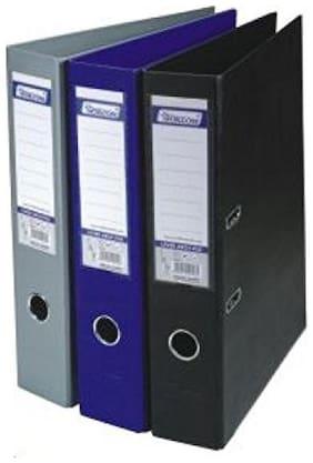 Lever Arch File LA409F (Pvc+Pvc) Blue Colour - Pack of 3