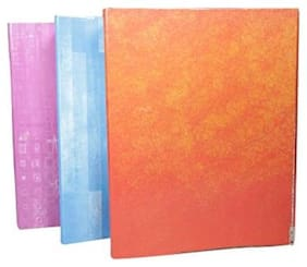 Lever Arch Kraft Board Laminated File 62.5 X 35.0 with Indian clip Assorted Colour (Pack of 4)