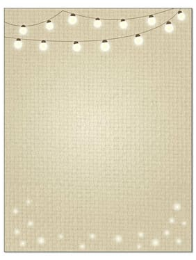 Light String Letterhead Stationery - 60 Sheets Per stationery Pack - B6505