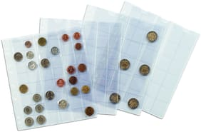 Lighthouse Coin Sheets Numis - 4 Pockets Upto 66Mm  by Ultra Mintage World
