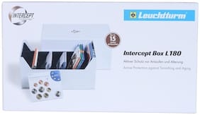 Lighthouse Intercept L 180 Box For Coin Sets  Postcards  Letters And Documents Upto 80 X 160Mm  by Ultra Mintage World