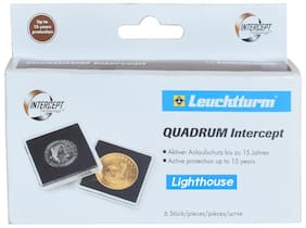 Lighthouse / Leuchtturm  Quadrum Intercept Coin Capsule - Inside 39Mm - Black  by Ultra Mintage World