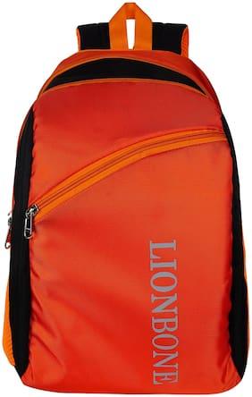 LIONBONE 24 ltrs School bag - Orange & Black