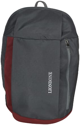 LIONBONE 10 ltrs School bag - Grey & Maroon