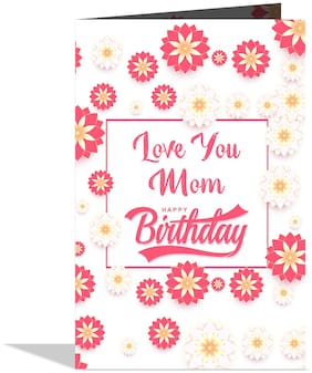 GIFT MY PASSION Love You Mom Happy Birthday Greeting Card