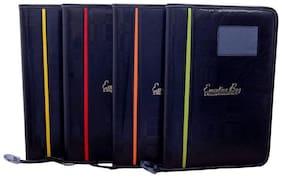 Lovex  Faux Leather Multiple Strips Folder Set of 4