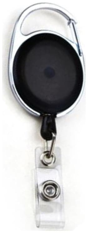 Lovex Retractable Holder Oval Badge Yo Yo Clip Black (Set of 1)