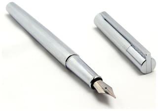 Luxury Exquisite Jinhao 176 Pure Silver Fountain Pen 18KGP Medium Nib New