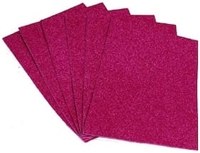 BanteyBanatey A4 Glitter Foam Sheets for Scrapbooking, Art and Craft Decoration and More Pack of 10 (Pink Color)