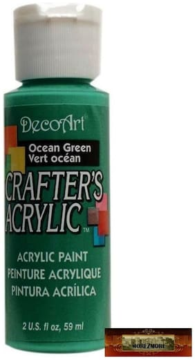 M01454 MOREZMORE DecoArt OCEAN GREEN Teal Crafters Acrylic All Purpose Paint