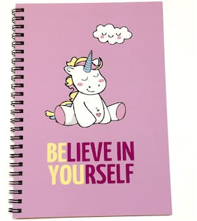 MACRO Believe In Yourself A5 Unruled Spiral Notebook