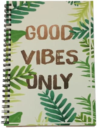 MACRO Good Vibes Only A5 Unruled Spiral Notebook