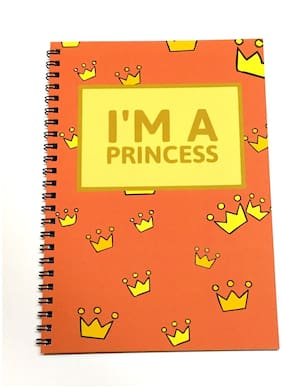 MACRO I'M A Princess A5 Unruled Spiral Notebook