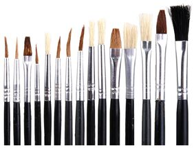 Magideal 15 PCS Artist Painting Brushes for Acrylic Oil Painting