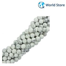 Magideal 8mm Jewelry Making Natural White Howlite Turquoise Gemstone Loose Beads 15