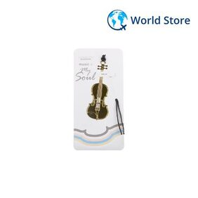 Magideal Gold-Plated Metal Bookmark Musical Instrument Bookmark With Tassel- Violin6