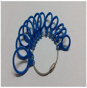 Magideal Plastic International Finger Sizer Ring Gauge 14-25 Standard Blue