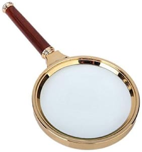 Magnifying Lens Glass 90 mm 10x Hand Held Wooden Magnifier