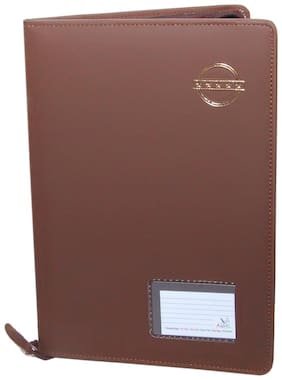 Magpie Brown Velvet touch Document Bag File Folder (Assorted Color)