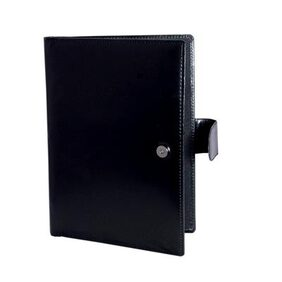 Magpie Collections Leatherite Conference Folder Black