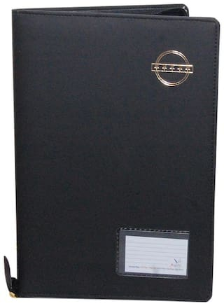 Magpie Collections B4 Black  Velvet Touch Document Bag File Folder (Assorted Color)