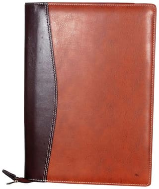 Magpie Collections Faux Leather Executive B4 File Folder Double Colour