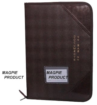 Magpie Faux Leather F/S Executive File Folder Brown (Assorted Color)