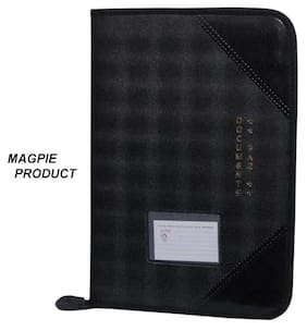 Magpie Faux Leather F/S Executive File Folder Black (Assoted Color)