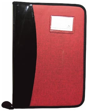 Magpie Faux Leather B4 Executive File Folder Double Colour (Red)