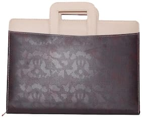 Magpie Leatherette Double color Leatherette Document Bag File Folder Handle style
