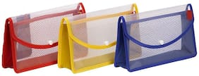 Magpie Polypropylene Jumbo size Document Case Set of 3 (Assorted color)