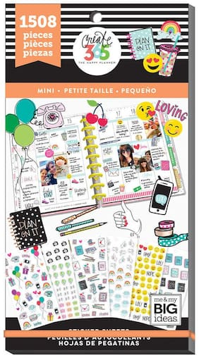 MAMBI Create 365 The Happy Planner TINY Stickers 1508 pieces