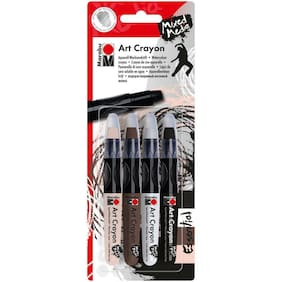 Marabu Creative Art Crayon Set 4Pc, Essentials - 1409000 203, WAS $14.99