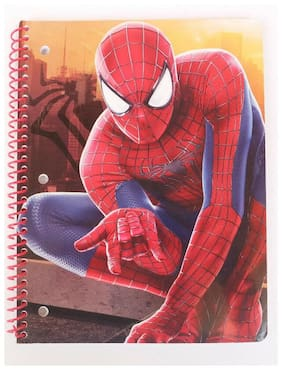 Marvel Avengers Spider-man Spiral Notebook 70 Wide Ruled Sheets 10.5 in x 8 in