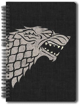Mc Sid Razz Redwolf Official Game Of Thrones - Stark - Notebook;Licensed By HBO (Home Of Box Office);USA