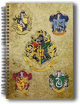 MC SID RAZZ Harry Potter Hogwarts House Crest 2 Notebook Licensed By Warner Bros;USA