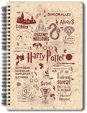 Mc Sid Razz Official Harry Potter-Infographic-Red Notebook Licensed By Warner Bros;USA