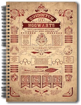 Mc Sid Razz Harry Potter Spiral Notebook of Quidditch At Hogwarts | Notebook for students | Birthday Gifts | Officially Licensed by Warner Bros;USA
