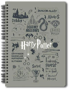 Mc Sid Razz OfficialHarry Potter- Grey Notebook Licensed By Warner Bros;Usa