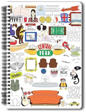 Mc Sid Razz Official Friends - TV Series Doodle - Notebook;Licensed By Warner Bros;USA