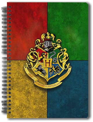 MC SID RAZZ Official Harry Potter Hogwarts House Crest 150-Page Notebook;A5 Size Licensed By Warner Bros;USA