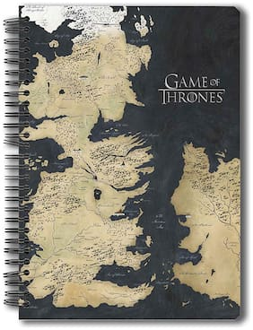 Mc Sid Razz Redwolf Official Game Of Thrones - Westeros Map - Notebook;Licensed By HBO (Home Of Box Office);USA