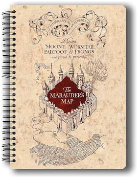 Mc Sidd Razz Official Harry Potter -The Marauder's Map;Notebook Licensed By Warner Bros;USA