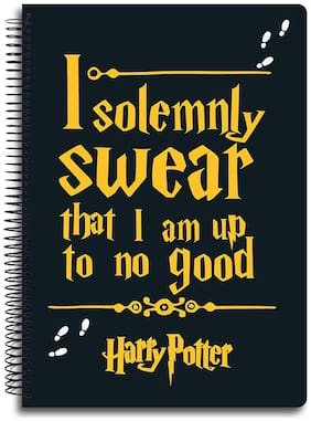 Mc Sidd Razz Official Harry Potter Spiral Notebook Of I Solemnly Swear;A4 Size Multi Five Subject Spiral Bound Notebook;Licensed By Warner Bros;USA